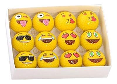 Emoji Universe: 2-Ply Professional Practice Golf Balls, 12 Emoji Balls …
