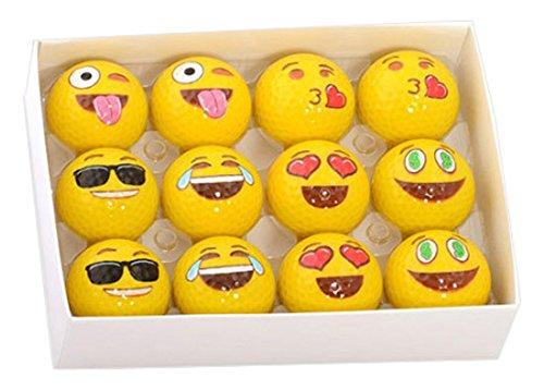 Emoji Universe: 2-Ply Professional Practice Golf Balls, 12 Emoji -