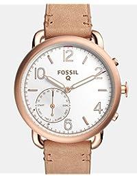 Smartwatch Híbrido Fossil Q Tailor FTW1129 Café Claro