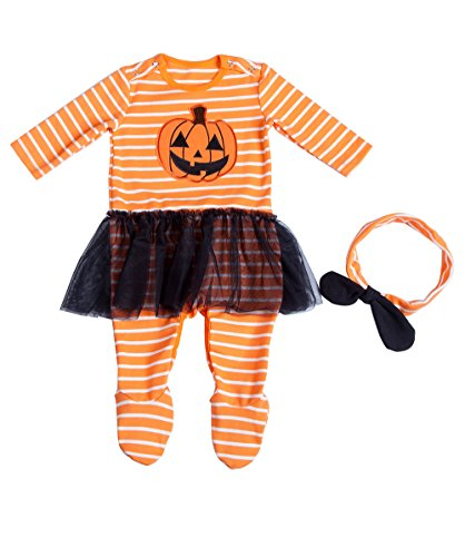 Month Girl Costume 2 Halloween (Moomintroll Boy and Girls Halloween Baby Cloth, Halloween Pumpkin Costume Toddler Infant Jumpsuit Outfits Pajamas)