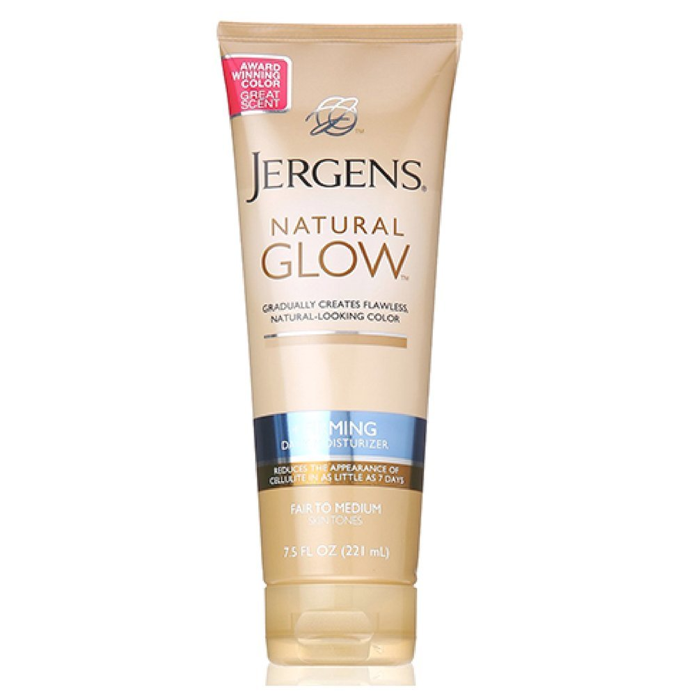 Jergens Natural Glow Daily Moisturizer Firming Medium Skin Tones 7.50 oz (Pack of 2)