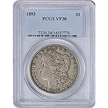 1893 Morgan Dollar VF30 PCGS