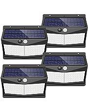 【108 LED/3 Mode】 Solar Lights Outdoor, SEZAC Solar Security Lights Solar 150° Wide Angle Lighting Solar Motion Sensor Lights Wireless Waterproof Outdoor Lights for Garden Fence Patio Garage (4 Pack)