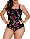 Blooming Rose Print Hourglass One Piece Swimsuit
