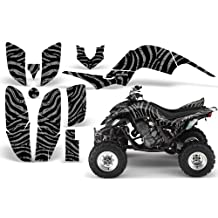 CreatorX Yamaha Raptor 660 Graphics Kit Decals Stickers Zebra Camo Silver