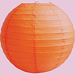 "4"" 6"" 8"" 10"" 12"" 14"" 16"" 18 Round Paper Lanterns Lamp Wedding Birthday Party Decoration (Burnt Orange, 10""/25CM)"