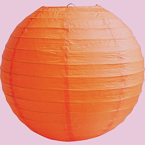 "MATISSA 4"" 6"" 8"" 10"" 12"" 14"" 16"" 18 Round Paper Lanterns Lamp Wedding Birthday Party Decoration (Burnt Orange, 8""/20CM)"