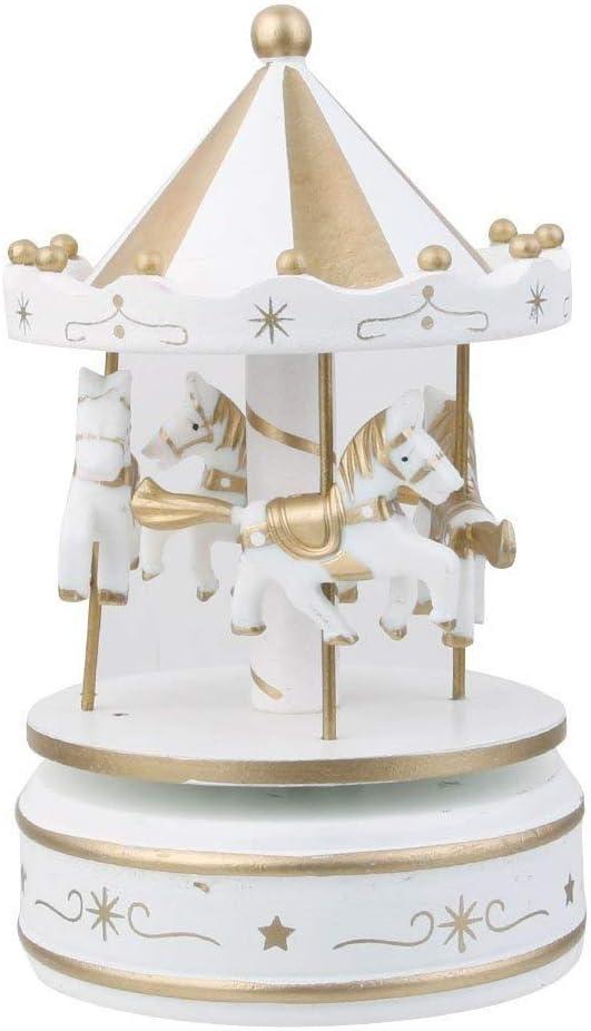 Carrusel Caja de música Tamaño pequeño Carrusel Caballo Cajas de música para niñas Niños como Regalo Cumpleaños de Navidad