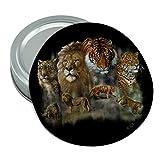 Cheap Lion Tiger Snow Leopard Big Cats Round Rubber Non-Slip Jar Gripper Lid Opener
