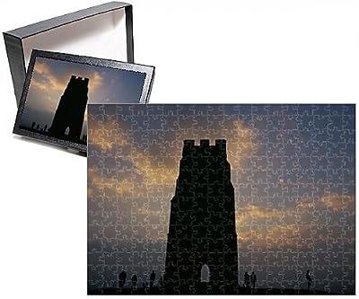 Photo Jigsaw Puzzle of Silhouette of Glastonbury Tor, Somerset, England, U.K., Europe