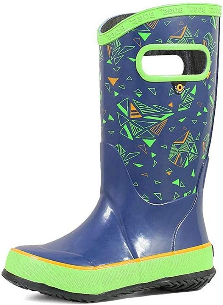 Black Glitter 3 M BOGS Kids Rainboots Waterproof Rubber Rain Boots for Boys and Girls