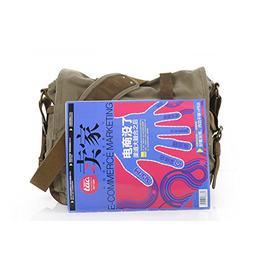 213a891d5ed9 Messenger Bag,Bienna Vintage Military Canvas Satchel Laptop Over Shoulder  Crossbody Sling Bag Handbag Side Bags with Leather Straps for Men School ...
