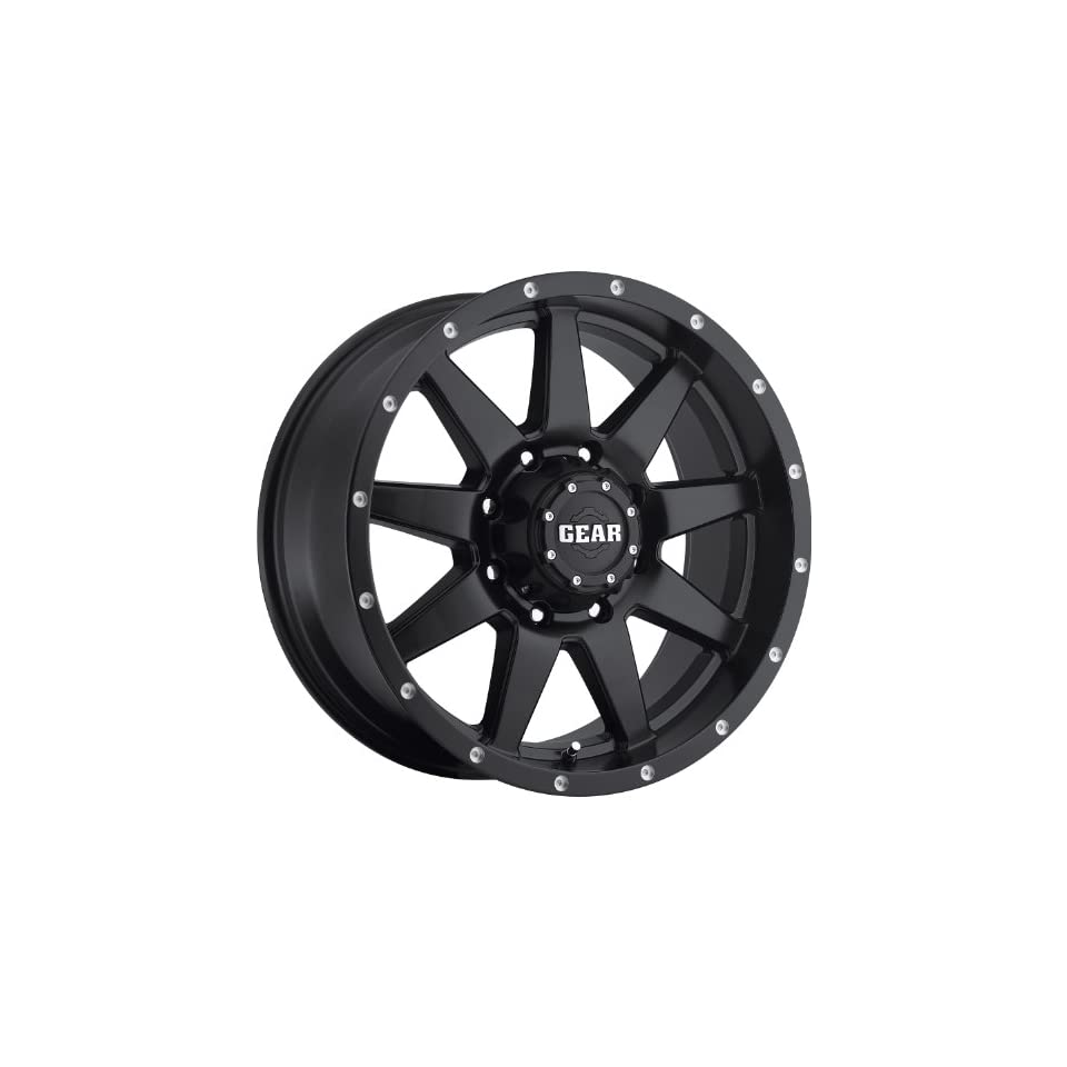 Gear Alloy Overdrive 17 Satin Black Wheel / Rim 5x4.5 with a 10mm Offset and a 83.82 Hub Bore. Partnumber 728B 7906510