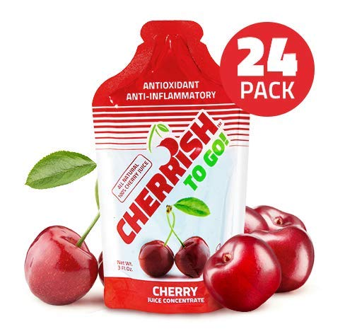 CHERRiSH Your Health To-Go 3oz Pouch Case of 24 - Cherry Juice Concentrate High Antioxidant Rating Anti-Inflammatory Muscle Recovery Gluten Free Non-GMO Low Glycemic Great Taste