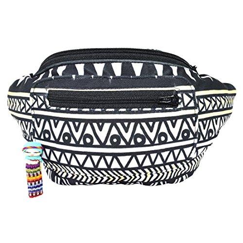 Santa Playa Native Tribal Aztec Party Fanny Pack  Stylish Party Boho Chic Handmade W Hidden Pocket  Mayan Ascent