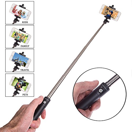 the memory journalists mj selfie pro extendable pole monopod bluetooth remote shutter selfie. Black Bedroom Furniture Sets. Home Design Ideas