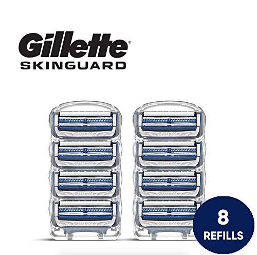 Gillette SkinGuard Men's Razor Blades for Sensitive Skin - 8 Refills