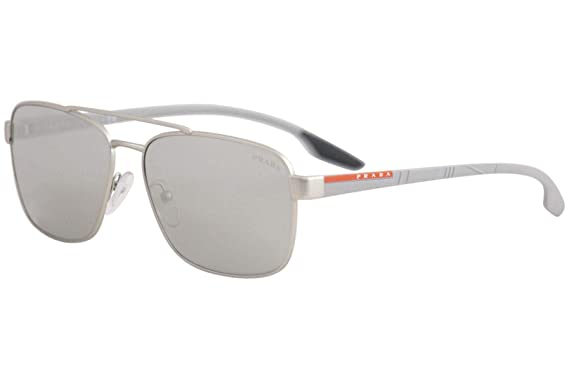 449d8934f183 Prada LIFESTYLE PS51US Sunglasses QFP2B0-62 - Silver Rubber Frame ...