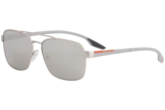 Prada Linea Rossa 0PS 51US Gafas de sol, Silver Rubber, 62 ...