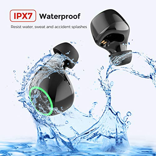 Wireless Earbuds, Mpow Bluetooth Earbuds 40H Play Time/IPX6 Bass HD Stereo Sound/Touch Control / 2 Modes / 2 Noise Cancelling Mics Bluetooth 5.0 Sports True Wireless Earphones