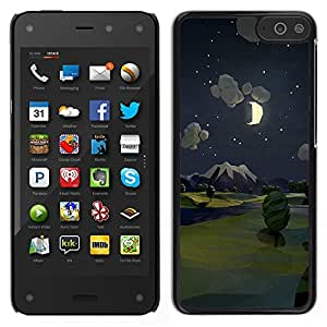 For Amazon Fire Phone , S-type® Painting Night Moon Nature - Arte & diseño plástico duro Fundas Cover Cubre Hard Case Cover