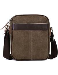 Men's Small Canvas Crossbody Shoulder Bag Messenger Bag Fanny Bag