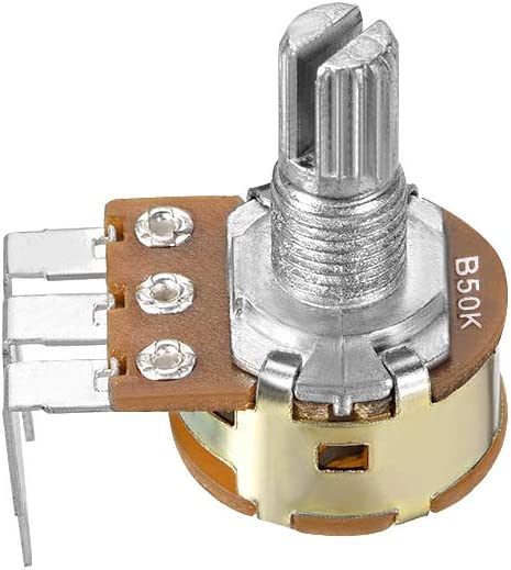 uxcell WH148 Potentiometer with Switch 50K Ohm Variable Resistors Single Turn Rotary Carbon Film Taper 10pcs
