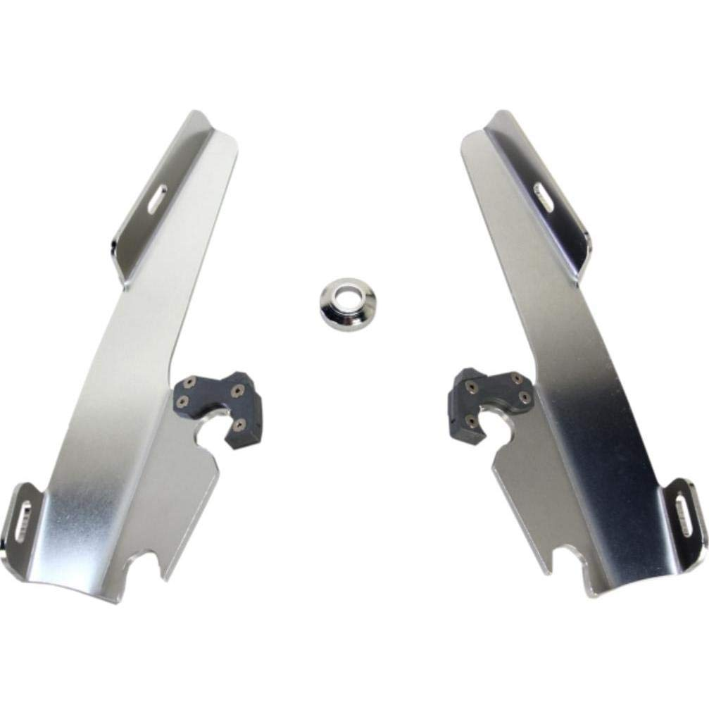Memphis Shades Batwing Fairing Polished Mounting Plates Only MEK1899