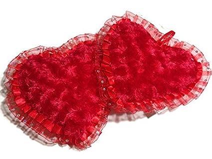 Peluche almohadas tamaño pequeño, 250 ml), diseño de corazones rojo de San Valentín