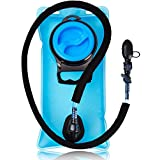 Hydration Water Bladder Bag 1.5 Liter Pack - With Insulated Mouth Tube Valve - Best for Camping Hiking Climbing Outdoor Cycling and Running - Sports Backpack Reservoir System - Military & BPA Free