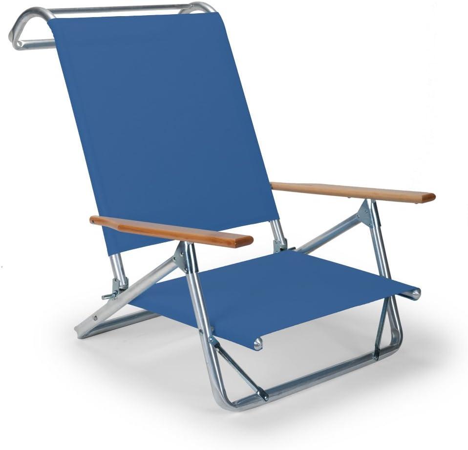 Telescope Casual Original Mini-Sun Chaise Folding Beach Arm Chair, Cobalt