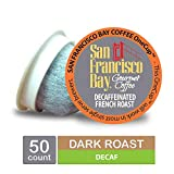 San Francisco Bay- Office OneCups- Decaf French Roast 50 Count- SINGLE WRAP- Single Serve Coffee Compatible with Keurig K-cup Brewers Single Serve Coffee Pods, Compatible with Most Single Serve Brewer