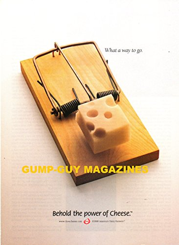 Magazine Print Ad From 1998 For BEHOLD THE POWER OF CHEESE, AMERICA