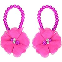 DZT1968® Baby Girl Pearl Chiffon Flower Foot Jewelry Shoes Barefoot Sandals