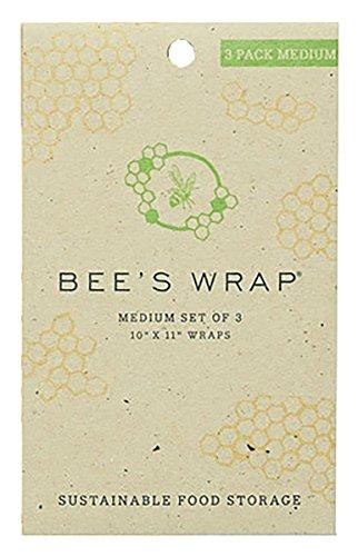 bee 39 s wrap sustainable food storage medium set of 3 wraps 10 x 11 home garden kitchen dining. Black Bedroom Furniture Sets. Home Design Ideas