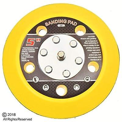 """5"""" Hook & Loop Sanding Pad Air Vacuum Sander Grinder Tools for Grinding Sanding: Automotive"""