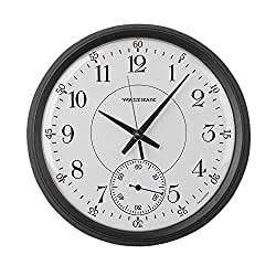 CafePress Waltham Railroad Pocket Watch 1 Large 17 Round Wall Clock, Unique Decorative Clock
