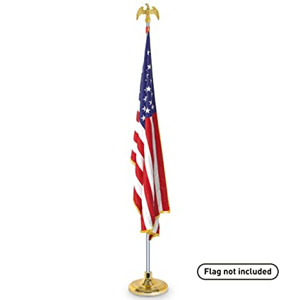 Amazon.com : EasyGoProducts Telescoping Indoor Flag Pole Kit with ...