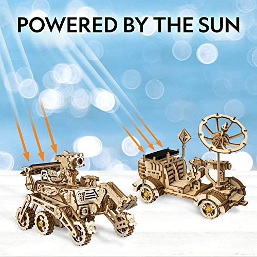 51 SHcAcA3L - NATIONAL GEOGRAPHIC Solar Space Explorers - DIY Moon Buggy and Mars Rover Model Kit, Each Powered by a Solar Panel, Great STEM Toy for Girls and Boys Interested in Outer Space and Engineering