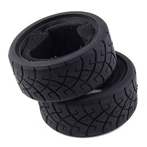(X-Pattern Radial Tires 26mm D Compound Foam Inserts for HPI Racing RC Cars 6.5x2.6cm(2.56x1.02inch)(DxW) (Fulfilled by Amazon) )