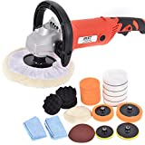 7'' Car Polisher 6 Variable Speed Buffer Waxer Sander Detail Boat w/Accessories