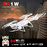 Leewa@ X51W FPV Drone with Wifi Camera Live Video Headless Mode, 4CH 2.4G 6-Axis Gyro Wi-Fi FPV 2.0MP Camera RC Quadcopter