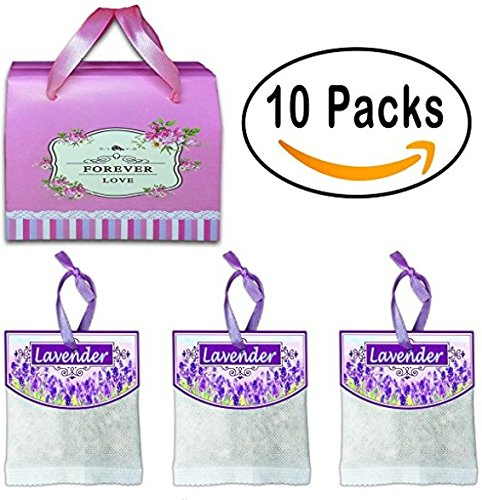 Lavender Fragrance Sachet - 10 Packs (Upgraded Version) Reusable Lavender Scented Sachets For Drawers And Closets And Linens Clothing Closet Storage Etc, Best Gift,Fragrance Sachet,Ship from U.S Warehouse