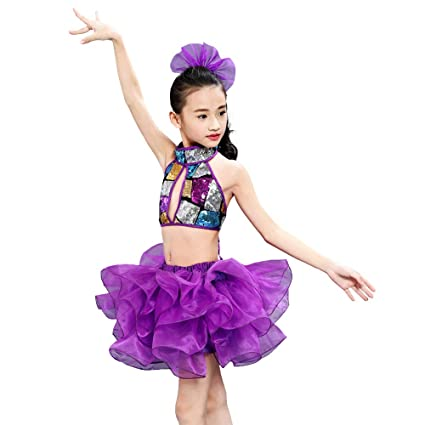 ddb7e87792db YONGMEI Dance Costume - Children s Clothing Sequins Tutu ...