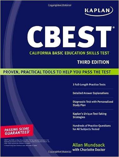 kaplan cbest california basic education skills test kaplan kaplan cbest california basic education skills test 3rd edition