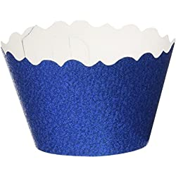 Bella Cupcake Couture 633131980271 Glitter Cupcake Wrappers, Royal Blue, Set of 12