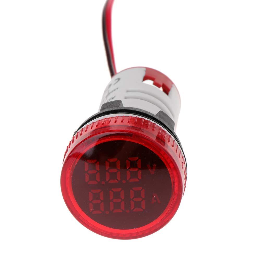 siwetg Amper/ímetro del Volt/ímetro Digital 22mm Ronda CA 50-500V 0-100A Voltage Volt Amp Monitor