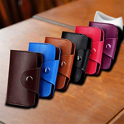 Azul Bolso Las Invierno color Señoras Multi card Bus Paquete Cuero Tarjeta Ywx Monedero Visita bit Recogida De La Moda Café Delgado Soporte xwq1Sf