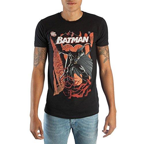 Classic Batman DC Comic Book Cover Artwork Mens Black Graphic Print Boxed Cotton T-Shirt