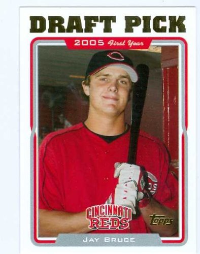 Jay Bruce baseball card 2005 Topps Traded #UH325 (Cincinnati Reds) rookie card Cincinnati Reds Autographed Baseball